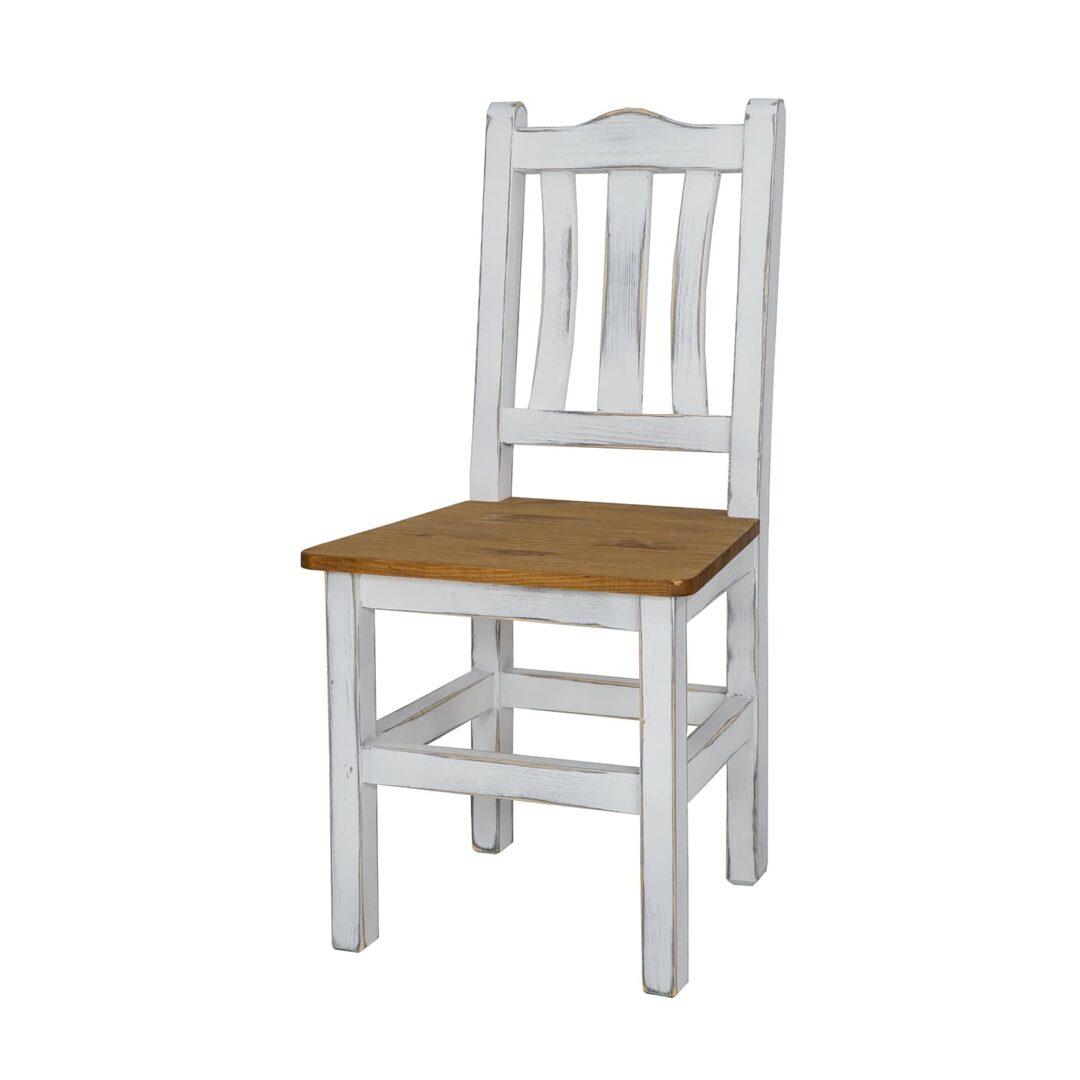 biela starožitná stolička