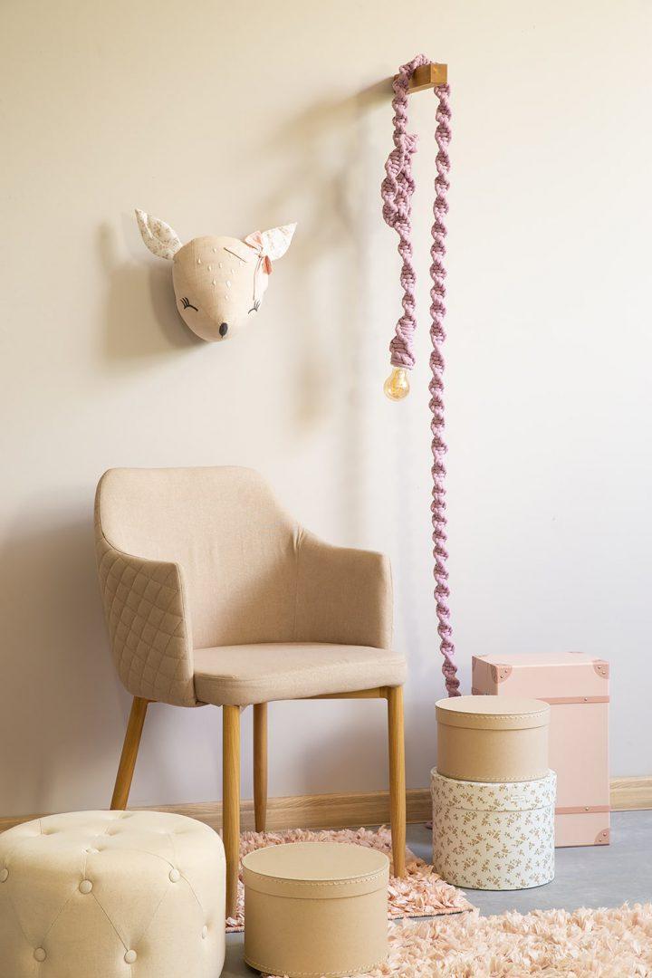 lamp sznurowa kinkiet na ścianę